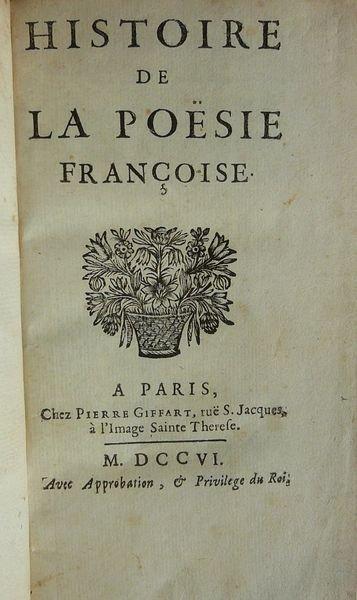 La première Histoire de la poésie française. Mervesin2