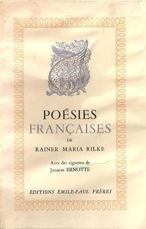 Le sublime selon Rilke et Marie Laurencin, 1946. rilkes2